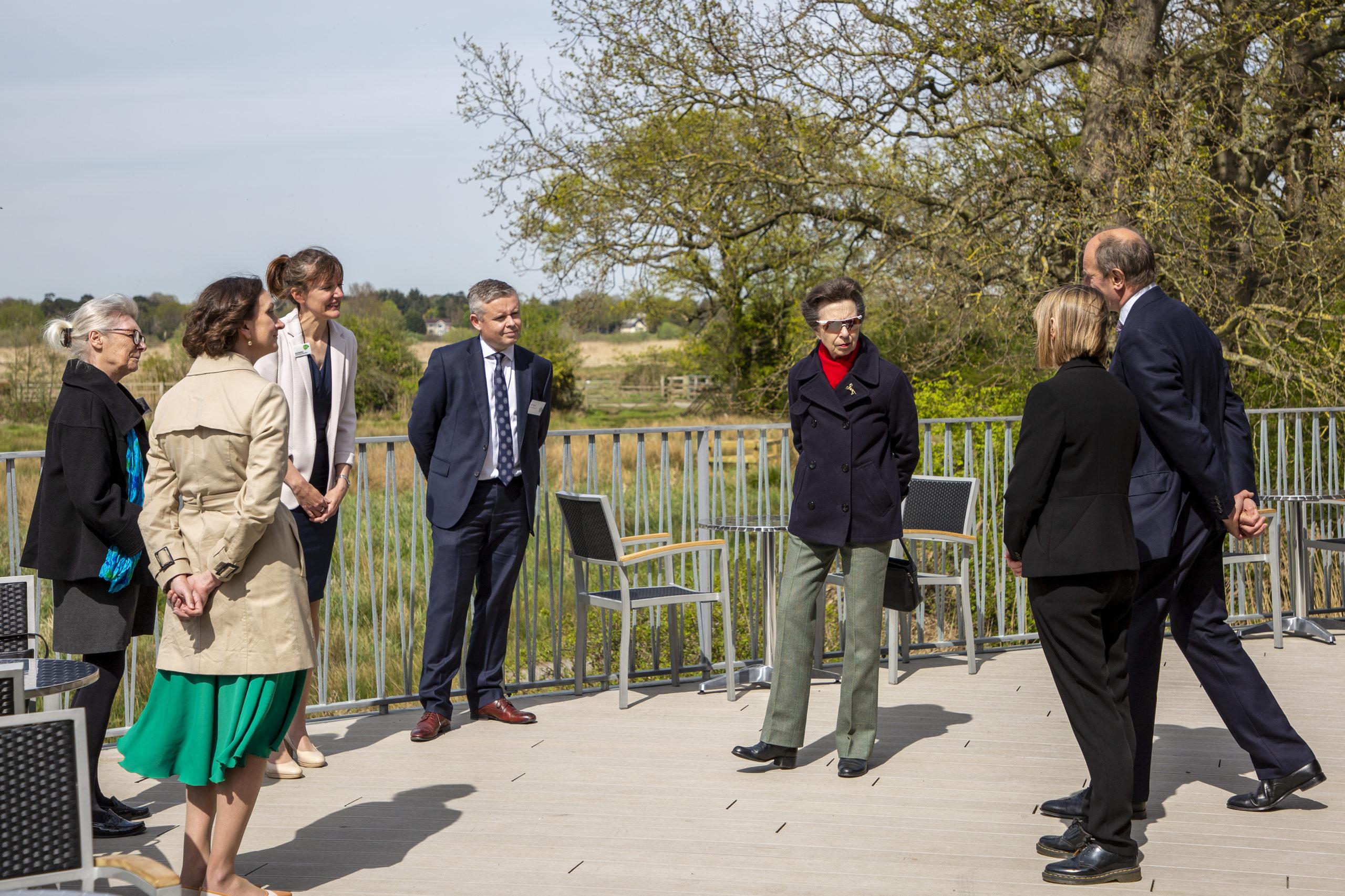 HRH The Princess Royal at Carlton Marshes