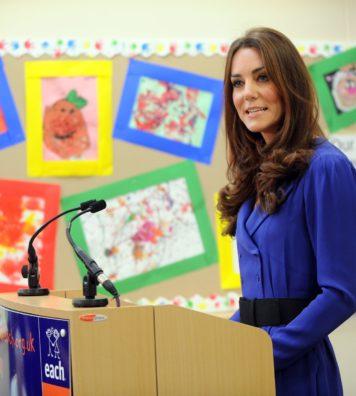 Princess Kate Middleton at a school