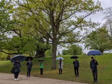 Launch of Oasis Project - people in park